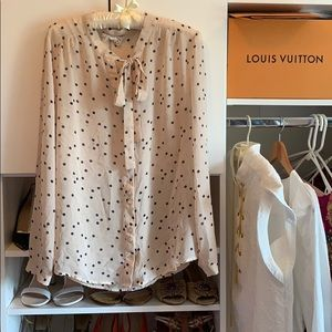 Urban Outfitters Tie-Neck Button Down Blouse